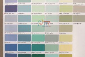 Bảng màu sơn Nippon Super Matex và Nippon Matex