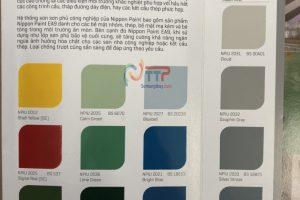 Bảng màu sơn sàn- sơn công nghiệp